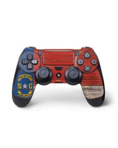 North Carolina Flag Dark Wood PS4 Pro/Slim Controller Skin