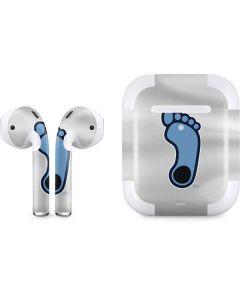 North Carolina Tar Heel Footprint Logo Apple AirPods 2 Skin