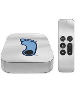 North Carolina Tar Heel Footprint Logo Apple TV Skin