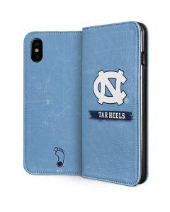 North Carolina Tar Heels iPhone XS Folio Case