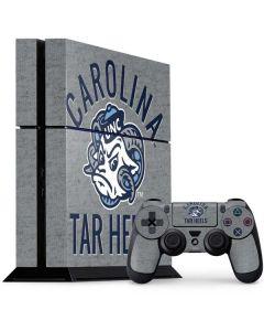 North Carolina Tar Heels Logo PS4 Console and Controller Bundle Skin