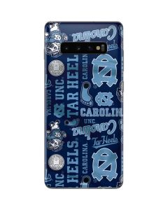 North Carolina Tar Heels Print Galaxy S10 Plus Skin