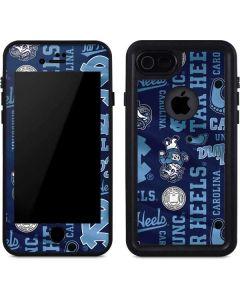 North Carolina Tar Heels Print iPhone 7 Waterproof Case