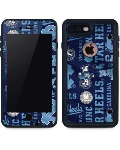 North Carolina Tar Heels Print iPhone 8 Plus Waterproof Case