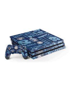 North Carolina Tar Heels Print PS4 Pro Bundle Skin