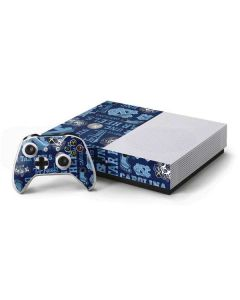 North Carolina Tar Heels Print Xbox One S Console and Controller Bundle Skin