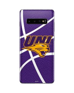 Northern Iowa Panthers Leather Galaxy S10 Plus Skin