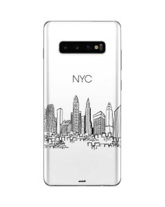 NYC Sketchy Cityscape Galaxy S10 Plus Skin