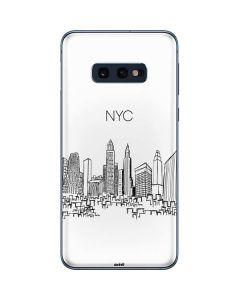 NYC Sketchy Cityscape Galaxy S10e Skin