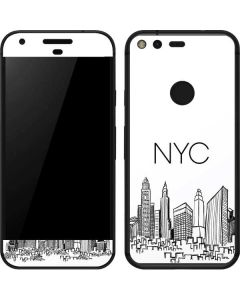 NYC Sketchy Cityscape Google Pixel Skin