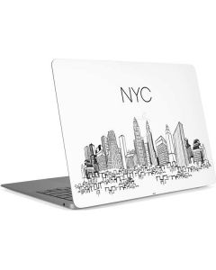 NYC Sketchy Cityscape Apple MacBook Air Skin