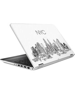NYC Sketchy Cityscape HP Pavilion Skin