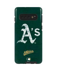 Oakland Athletics - Solid Distressed Galaxy S10 Pro Case