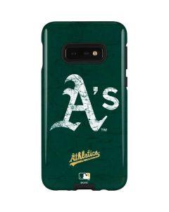 Oakland Athletics - Solid Distressed Galaxy S10e Pro Case