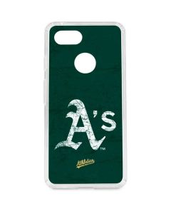 Oakland Athletics - Solid Distressed Google Pixel 3 Clear Case