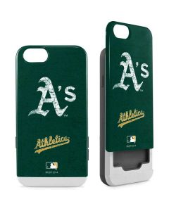 Oakland Athletics - Solid Distressed iPhone 6/6s Wallet Case