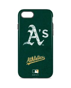Oakland Athletics - Solid Distressed iPhone 8 Pro Case