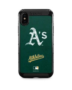 Oakland Athletics - Solid Distressed iPhone XS Cargo Case