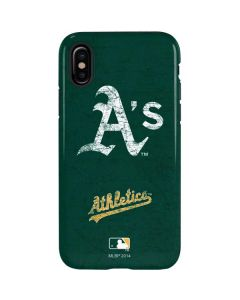 Oakland Athletics - Solid Distressed iPhone XS Pro Case