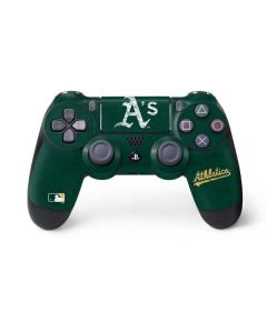 Oakland Athletics - Solid Distressed PS4 Controller Skin