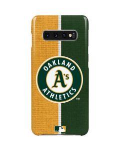 Oakland Athletics Split Galaxy S10 Plus Lite Case