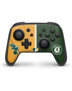 Oakland Athletics Split Nintendo Switch Pro Controller Skin