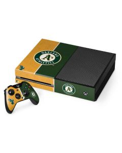 Oakland Athletics Split Xbox One Console and Controller Bundle Skin