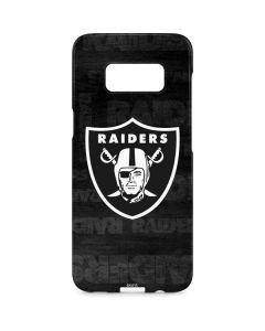 Oakland Raiders Black & White Galaxy S8 Plus Lite Case