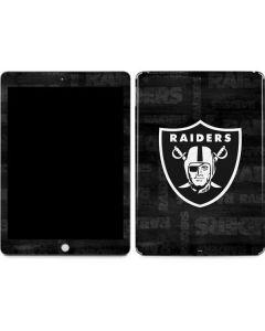 Oakland Raiders Black & White Apple iPad Skin