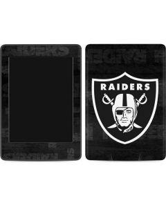 Oakland Raiders Black & White Amazon Kindle Skin