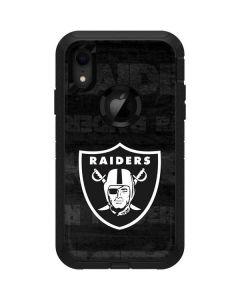 Oakland Raiders Black & White Otterbox Defender iPhone Skin