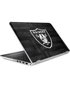 Oakland Raiders Black & White HP Pavilion Skin