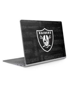 Oakland Raiders Black & White Surface Book 2 13.5in Skin