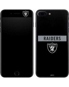 Oakland Raiders Black Performance Series iPhone 8 Plus Skin