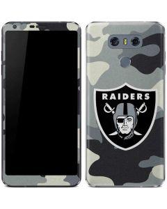 Oakland Raiders Camo LG G6 Skin