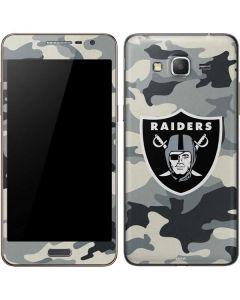 Oakland Raiders Camo Galaxy Grand Prime Skin