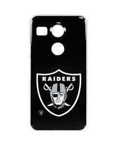 Oakland Raiders Large Logo Google Nexus 5X Clear Case
