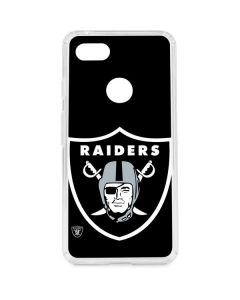 Oakland Raiders Large Logo Google Pixel 3 XL Clear Case