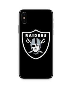 Oakland Raiders Large Logo iPhone X Skin