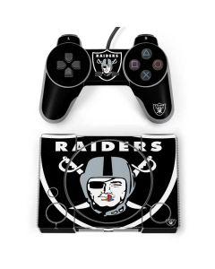 Oakland Raiders Large Logo PlayStation Classic Bundle Skin
