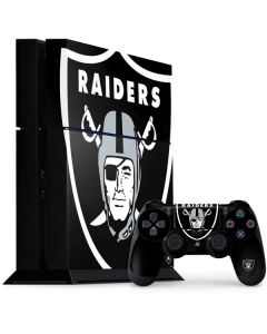 Oakland Raiders Large Logo PS4 Console and Controller Bundle Skin