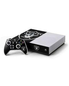 Oakland Raiders Large Logo Xbox One S All-Digital Edition Bundle Skin