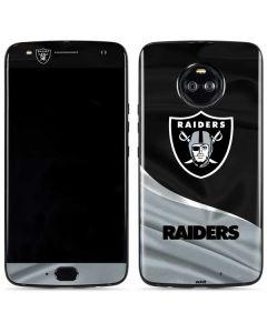Oakland Raiders Moto X4 Skin