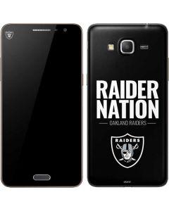 Oakland Raiders Team Motto Galaxy Grand Prime Skin