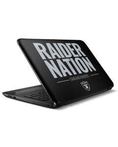 Oakland Raiders Team Motto HP Notebook Skin