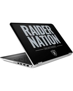 Oakland Raiders Team Motto HP Pavilion Skin