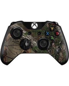 Oakland Raiders Realtree Xtra Green Camo Xbox One Controller Skin