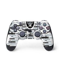 Oakland Raiders Silver Blast PS4 Controller Skin