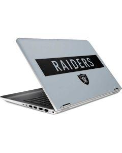 Oakland Raiders Silver Performance Series HP Pavilion Skin