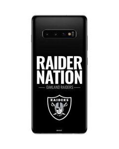 Oakland Raiders Team Motto Galaxy S10 Plus Skin
